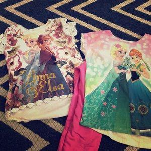 3 piece Anna and Elsa Frozen bundle